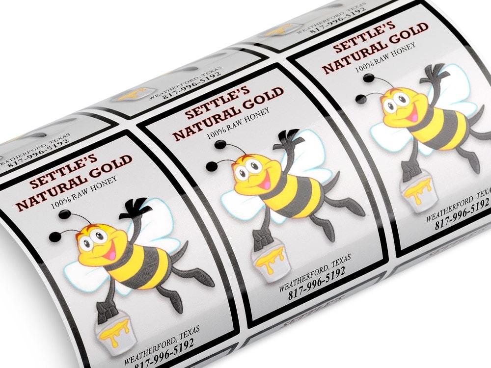 Lively image regarding printable waterproof labels
